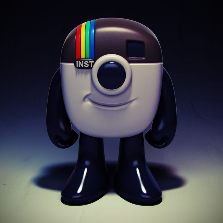 Instagram Mascot Vinyl Toy Design. Great Idea. Would Like To See This  Produced.