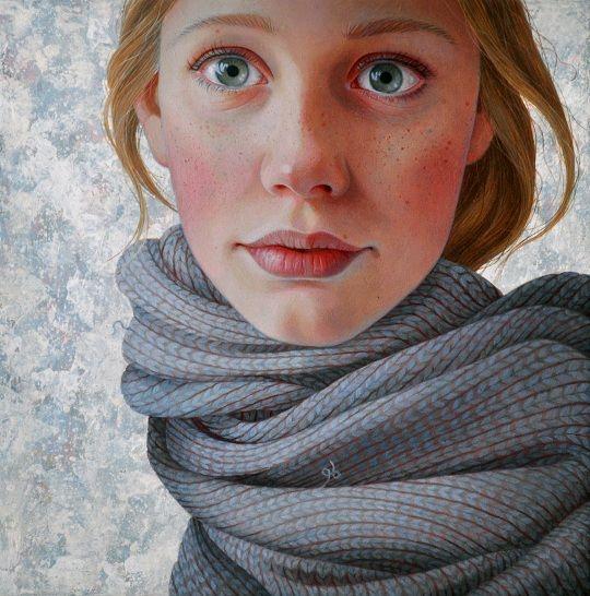 Rose Petals - artchipel: Jantina Peperkamp - Sjaal. Acrylic on...