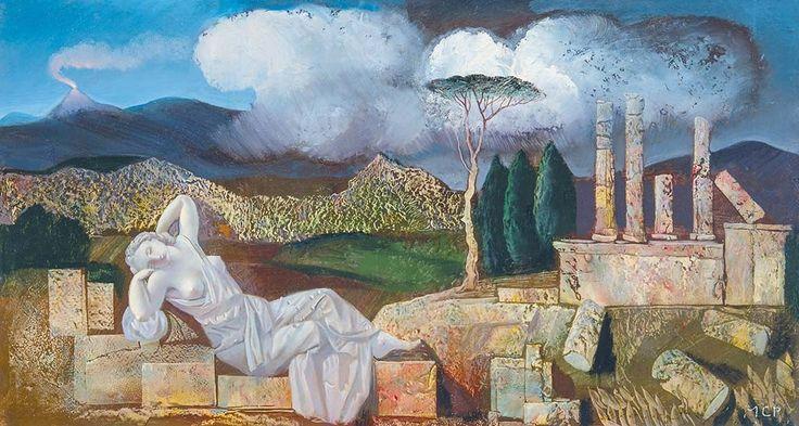 Molnár C. Pál (1894-1981) Melankólia (Álom a romok között)