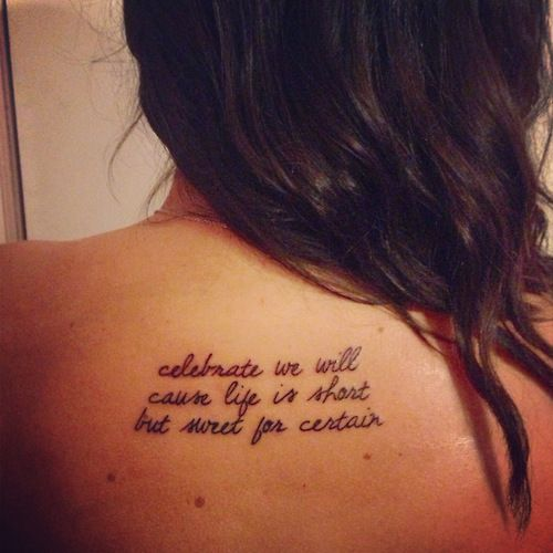 Short Sweet Tattoo Quotes: 49 Best Images About Tattoos On Pinterest