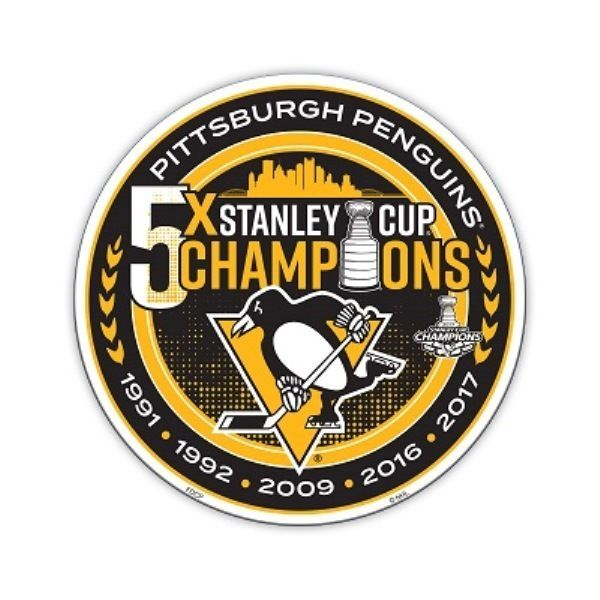 2017 NHL Stanley Cup Champions Pittsburgh Penguins 5x Champion Car Magnet #BSI #PittsburghPenguins