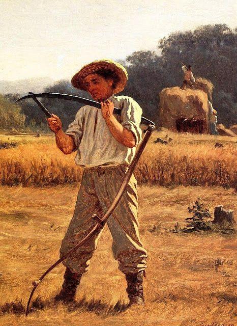 """""""Man with a Scythe"""" by Eastman Johnson (1868)"""