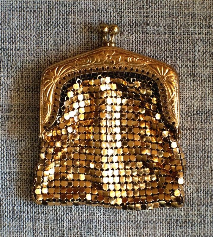 Кошелек винтажный - кольчужка - металл Франция.