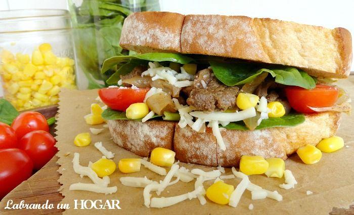Labrando un HOGAR: Receta: Sándwich de carne salteada con cebolla, y ...