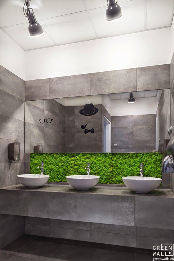 ŚCIANY Z MCHU W FACTORY PARK | GREEN WALLS - projektowanie i wykonawstwo zieleni we wnętrzach, rośliny do wnętrz - Kraków