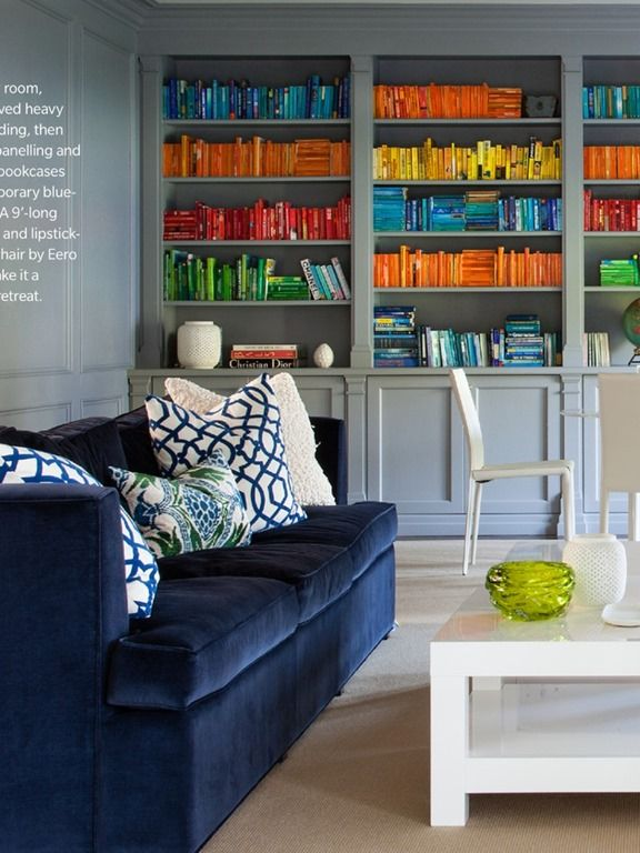 living room designs, living room decorating ideas - Currently Obsessed: Navy Velvet Sofas