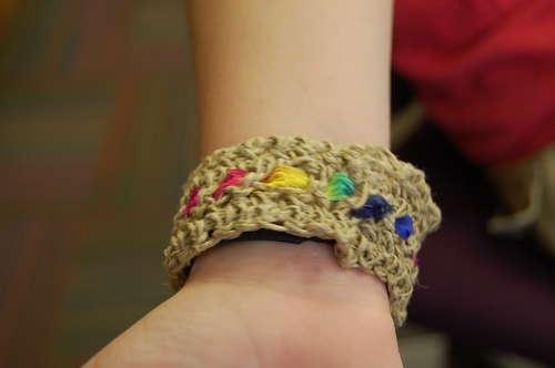 Rainbow hemp bracelet