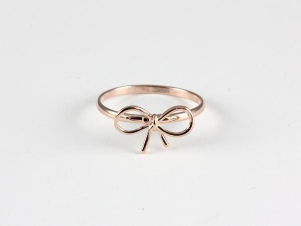 This tiny little bow ring is so sweet & adorable. You will want to wear everyda…