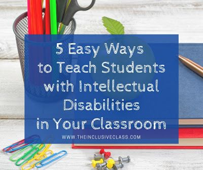 The Inclusive Class: 5 Easy Ways to Teach Students with Intellectual…