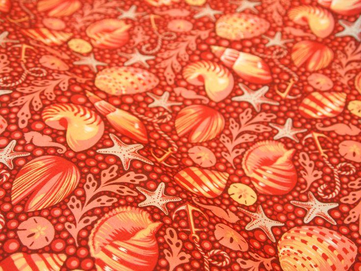 tissu-imprimé-coquillages-Moline
