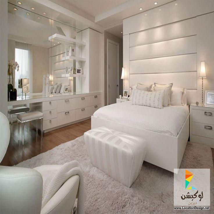 White Bedroom Design, All White Bedroom, Bedroom Decor