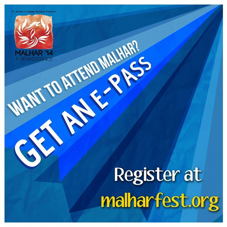 How to get passes and attend Malhar, you ask?   Simple. Go register at www.malharfest.org and carry your ID card on the days; and you are sorted   #TechnologyRenaissance #RevelingInTheNew  PS: Got another technology surprise for you guys