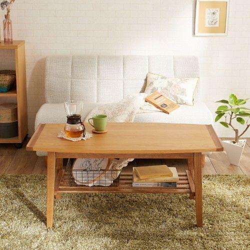 ソファーに合わせるオーク材リビングテーブル