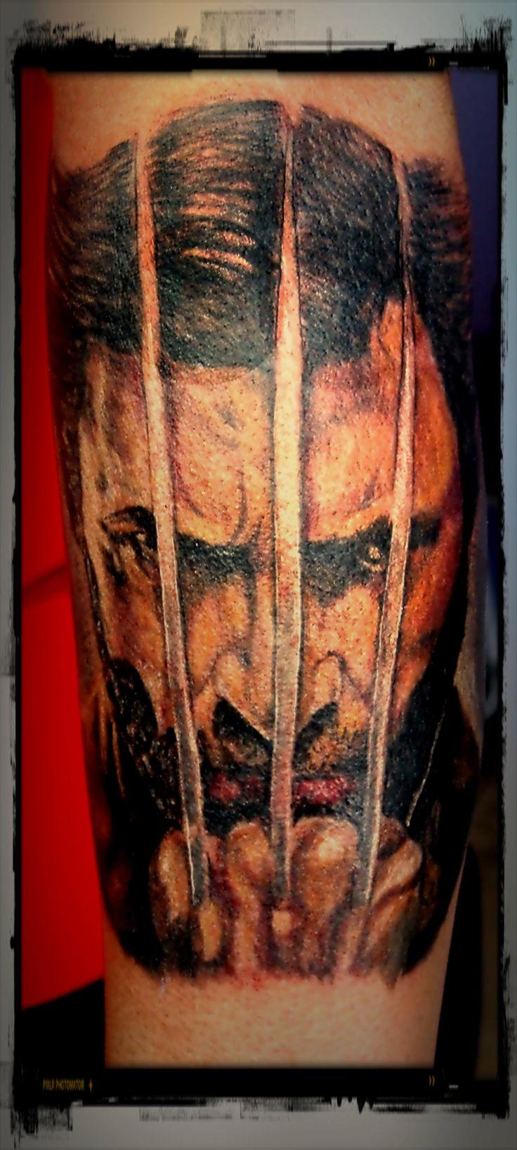 #wolverine  #xmen dofp  #xmen  #days of future past  #x-men  #hugh jackman  #ink  #tattoo  #tattoos  #portrait  #portrait tattoo  #work in p...