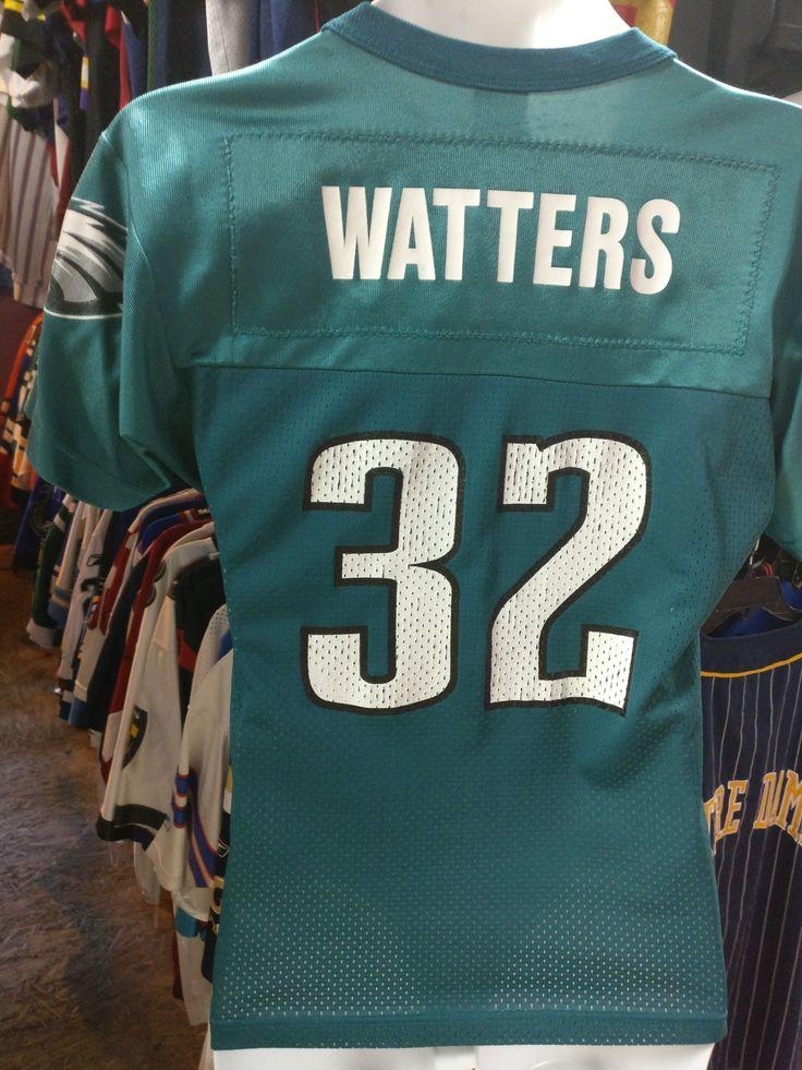 Vtg #32 RICKY WATTERS Philadelphia Eagles NFL Champion Jersey 10-12