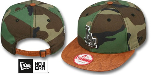 ca1eb8d0cb1 Dodgers SNAKE-THRU STRAPBACK Army Camo Adjustable Hat by New Era on  hatland.com