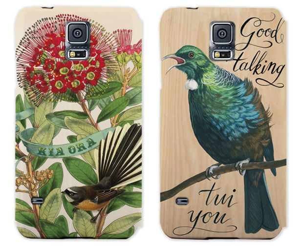 Samsung Galaxy S5 phone cases by Tanya Wolfkamp published by Live Wires NZ Ltd