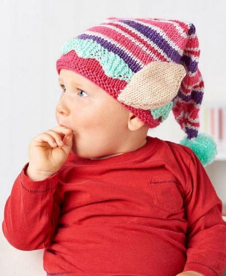 FREE KNITTING PATTERN: Santa s Little Helper Elf Hat Crochet Love Pintere...