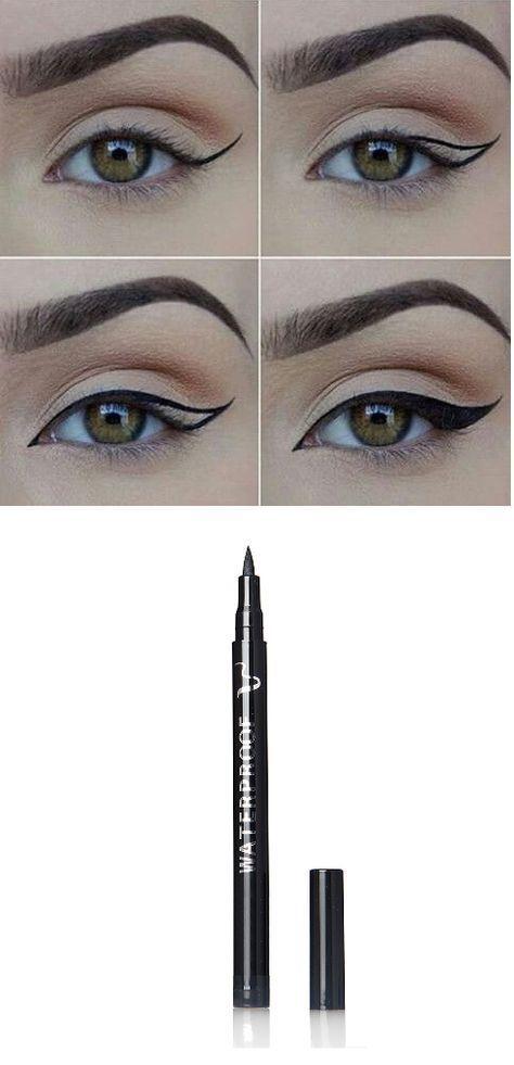 Black, Smudge-proof, Waterproof and Long Lasting Eye Liner Pencil #Eyemakeupideas