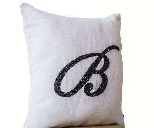 Initial Pillow Covers Unique 41 Best Customized Monogram Pillow Images On Pinterest  Monogram Decorating Design