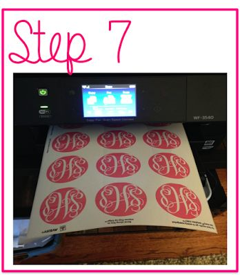 Prep Avenue: How to make monogrammed stickers!