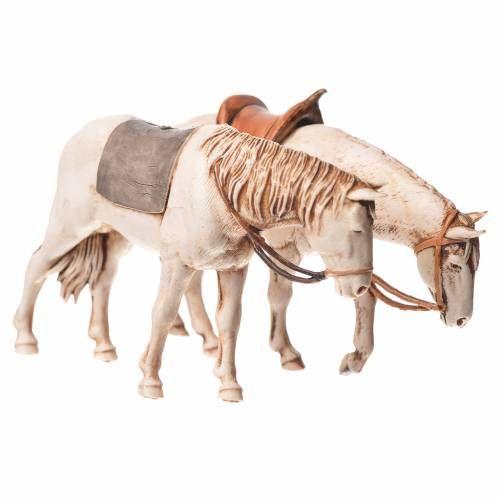 Caballos surtidos. 2 pdz, para belén de Moranduzzo con estatuas de 10 cm. | venta online en HOLYART
