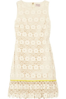 Juicy Couture Embroidered lace cotton dress