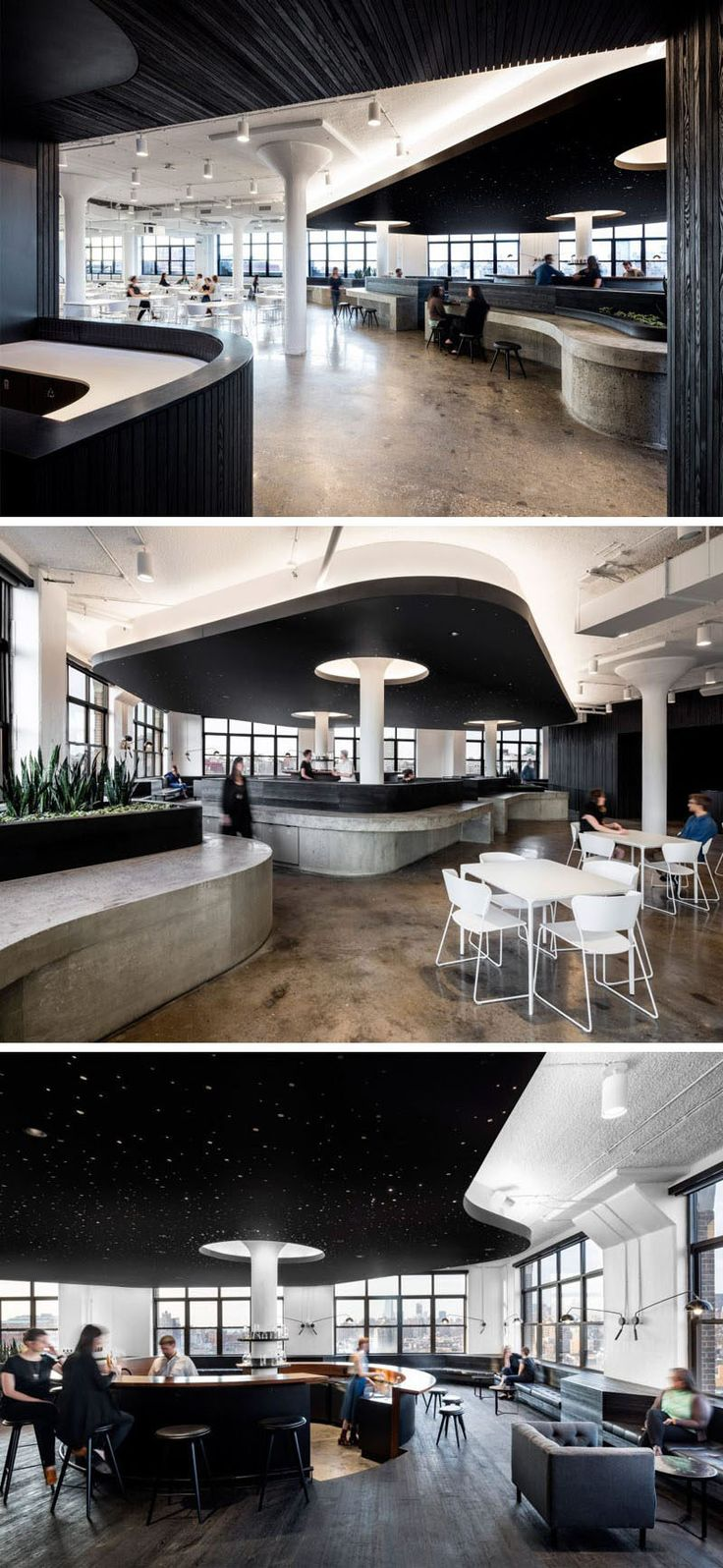 office cafeteria design enchanting model paint. this office cafeteria has curved concrete bars and a dramatic black ceiling design enchanting model paint