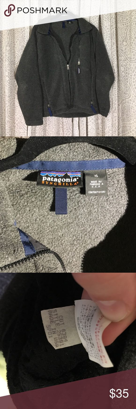Patagonia Jacket Fleece Men's Patagonia fleece in size XS. Would fit a Women's Medium. Vintage older style. Patagonia Jackets & Coats