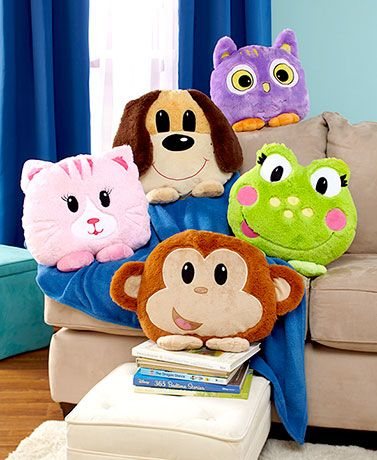 Your little one will love cuddling with this Plush Animal Pillow Friend. It's big enough for a child to hug, yet small enough for them to carry along on car rid