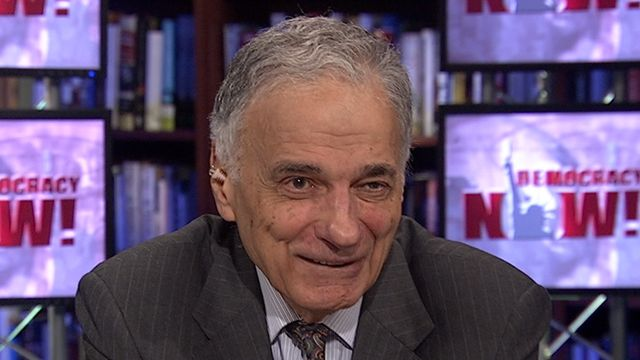 """Ralph Nader on the Federal Reserve's Gamble, Bradley Manning & Fighting the Two-Party System -- Important Interview by a real journalist.  Won't see this on commercial """"news"""" stations."""