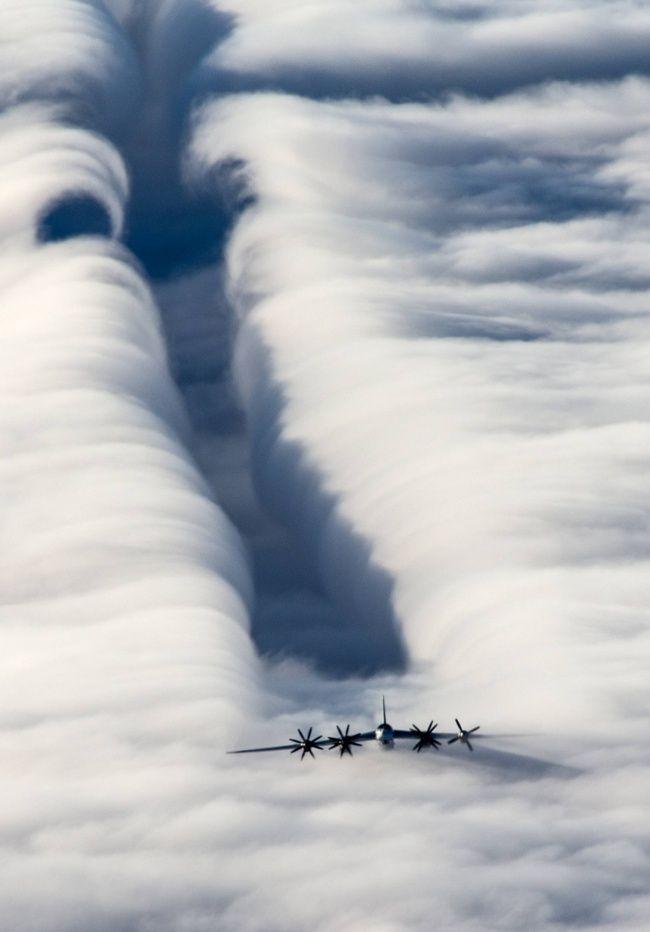 Rebufo del bombardero estratégico Tu-95MS.