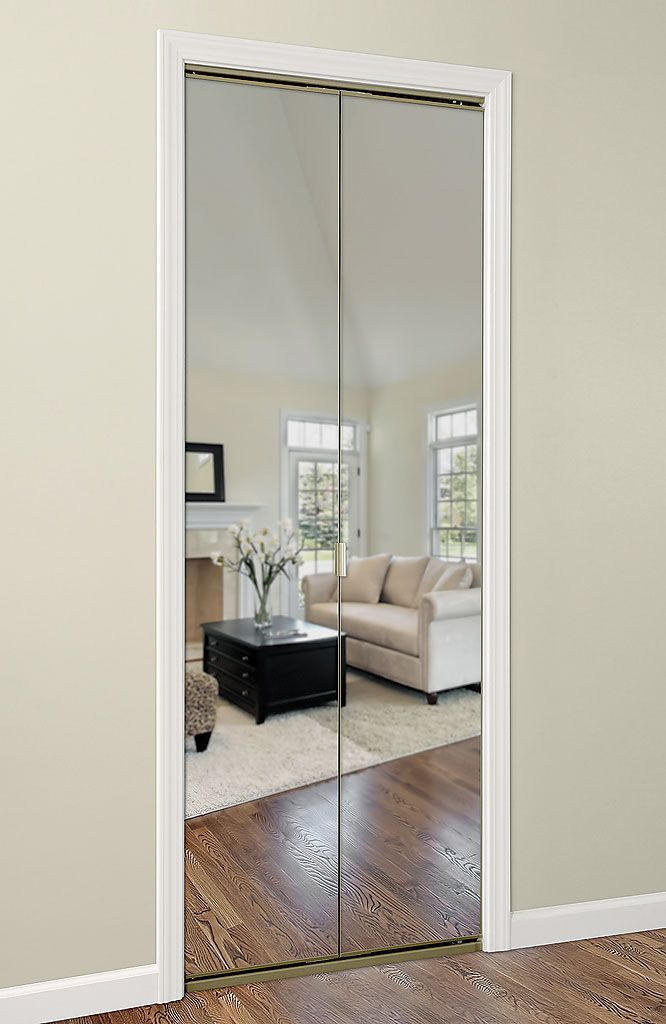Our Bifold Mirror Closet Doors Are Solid Mdf With The Mirror