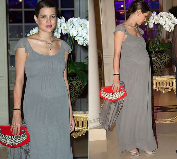 Pregnant Charlotte Casiraghi (27) at the Amade Mondiale Association's 50th Anniversary Gala Dinner, in support of needy children around the world, Oct 3th 2013 - hellomagazine.com