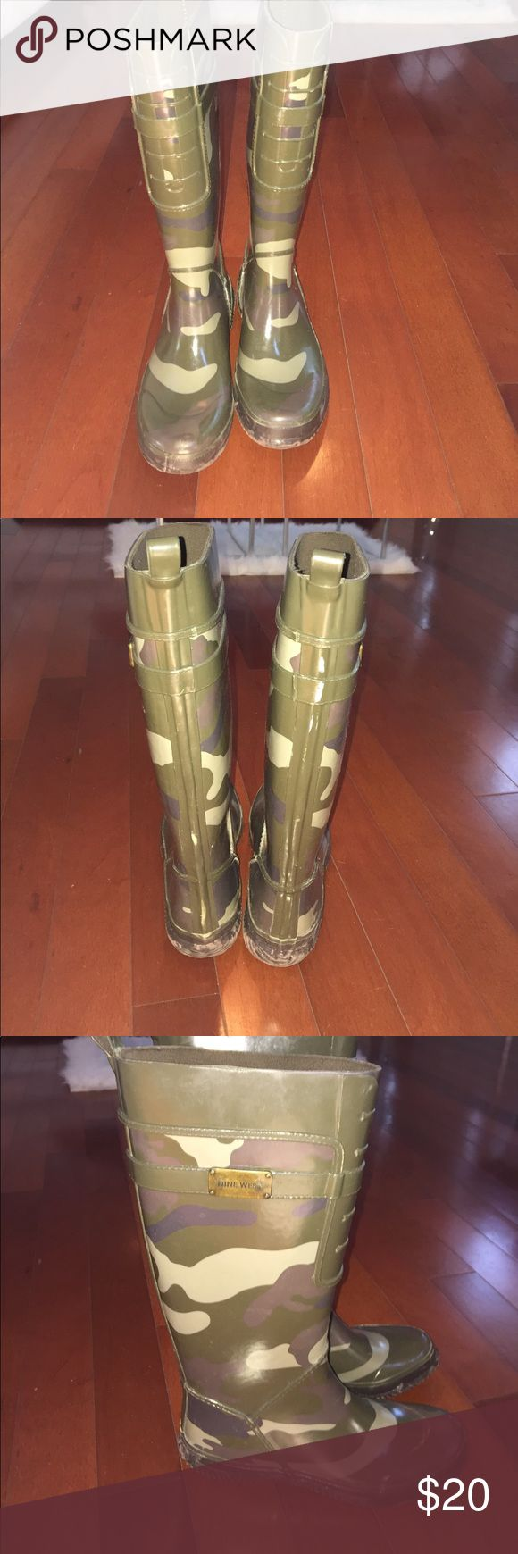 🇺🇸 SALE. ☔️Stay protected with camouflage Welles Stay dry with a cute pair of Nine West camouflage wellies! Nine West Shoes Winter & Rain Boots