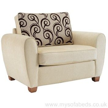 Sofa Cover Armchair with hidden pull out bed Includes memory foam mattress Multiple colours available