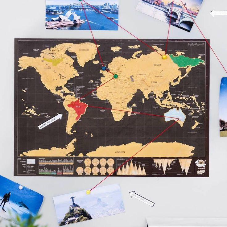 Premium Scratch Off Personalized Travel Map Poster 130