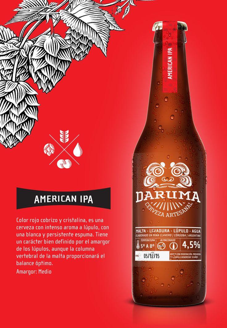 Diseño de Identidad para la Cerveza Artesanal de Mina Clavero Daruma.