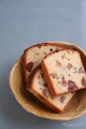 いちじくと胡桃のケーキ fig and walnut cake recipe in Japanese