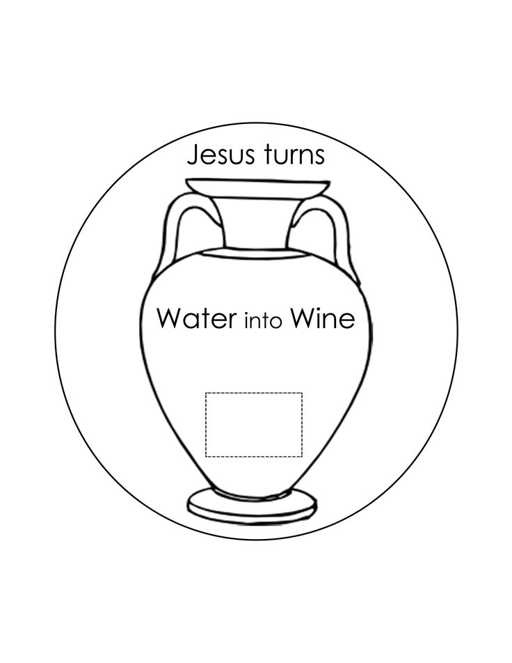 jesus turns water into wine coloring page - 17 best images about new testament crafts ideas on