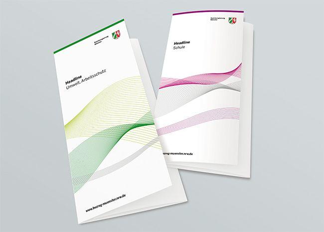 Für die Bezirksregierung Münster ist ein Corporate Design entstanden, das für einen eigenständigen Außenauftritt der Bezirksregierung sorgt.