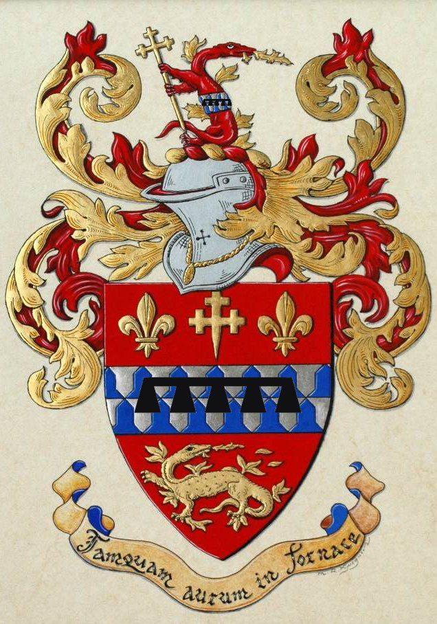 My personal arms as painted by Max Gueguen inherited from my grandfather with a label of five