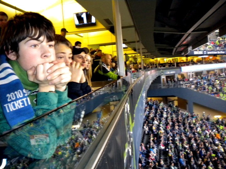 """They bought tickets to a suite at the Seattle Sounders Game, """"The view was great!"""""""