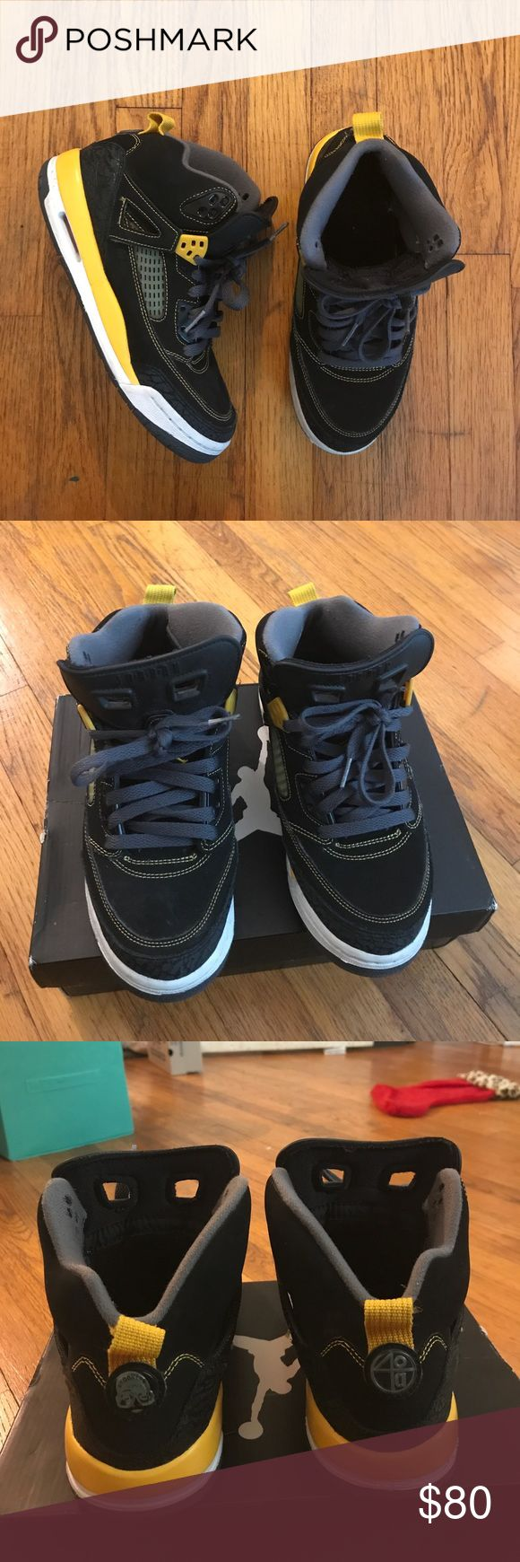 Jordan Spizike (GS) Air Jordan & Spike Lee Collaboration Shoe , includes yellow lace locks & box , in great condition , barely worn Jordan Shoes Athletic Shoes