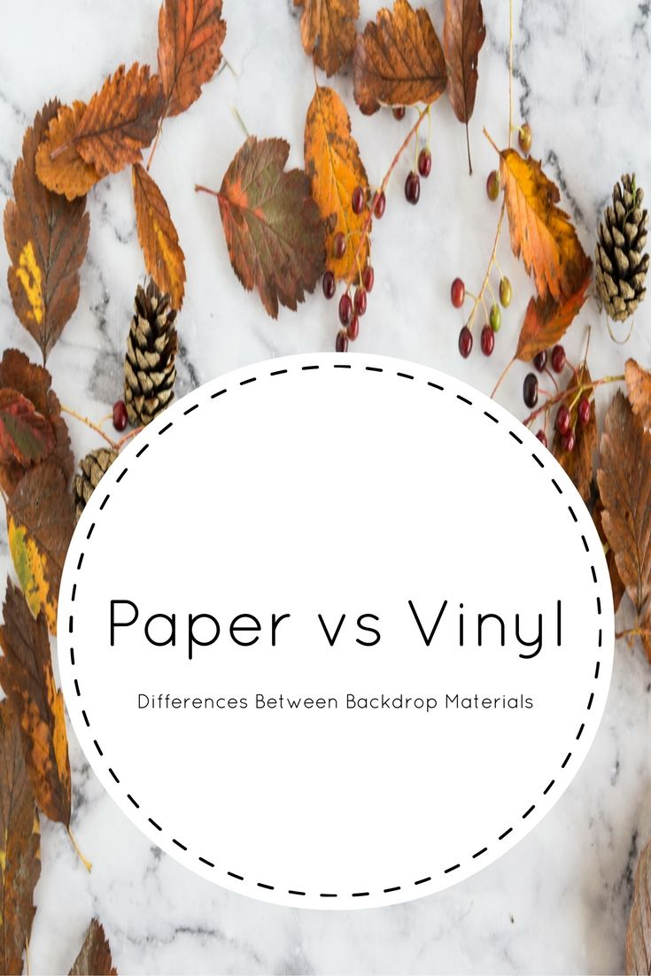What is the difference between paper and vinyl backdrops?