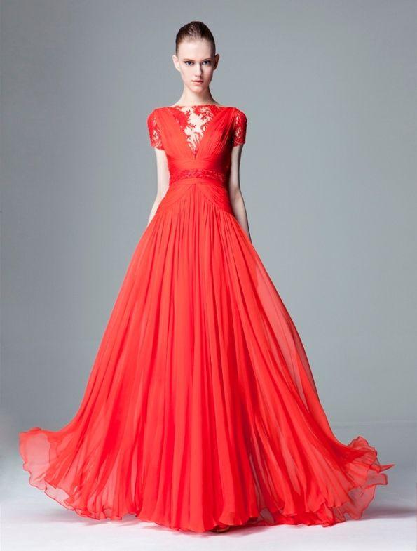 Zuhair Murad Pre Fall 2014 Amaaaaazing color!!: Fashion, Zuhairmurad, Zuhair Murad, Dresses, Red Gowns, Murad Pre Fal, Fall 2014, Prefal, Near Fal 2014