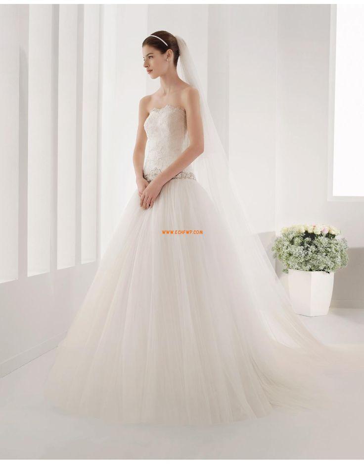 Hall A-linje Dragkedja Bröllopsklänningar 2015