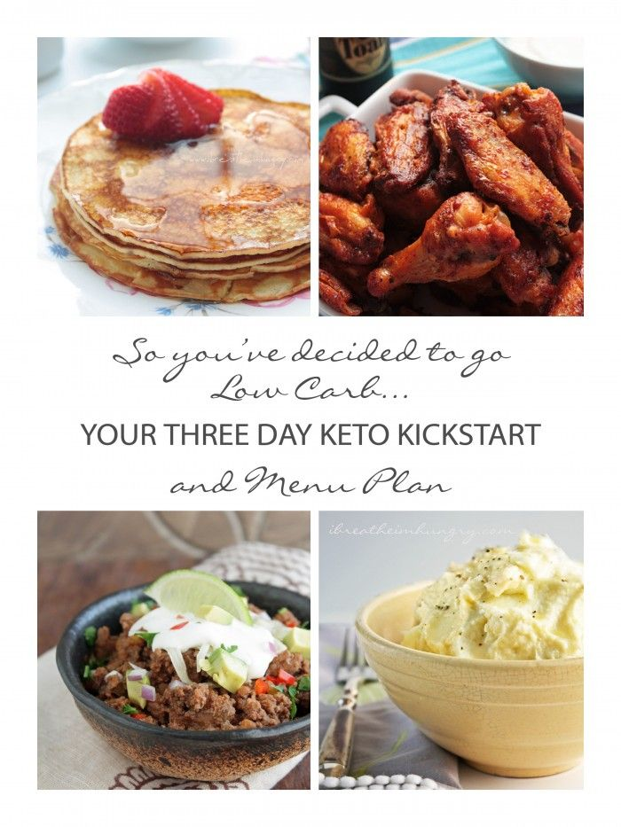 3 Day Keto kickstart menu plan! Some of you may be new to low carb eating, and whether you are following Atkins, Keto, or another low carb plan, there are a few basic things you should know.