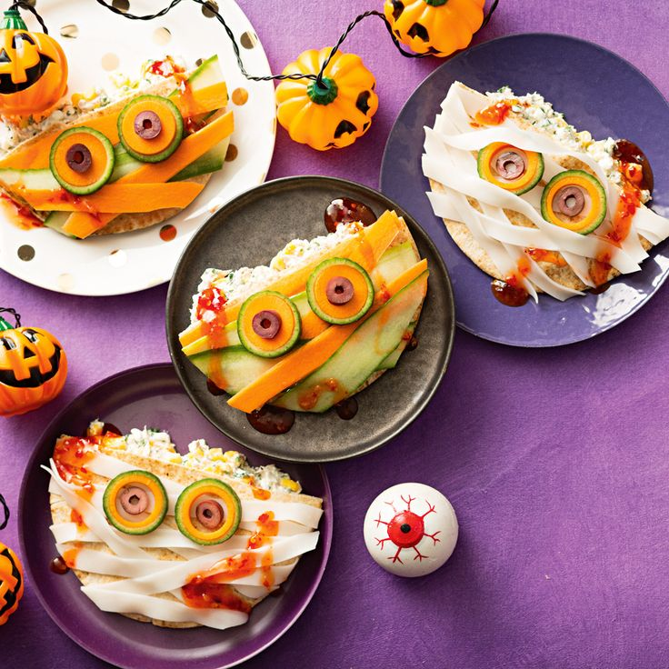 How to make Mummy Pockets. Find more great Halloween Party Food ideas!