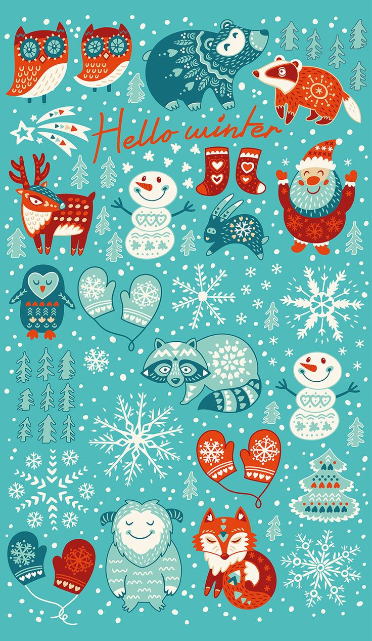 Christmas Collection with cute characters and graphic elements.This digital set perfect for holidays design, greeting cards, new year invitations, web design, stickers, magnets, posters, textile, cover, and any other objects :) Good Luck for your design…